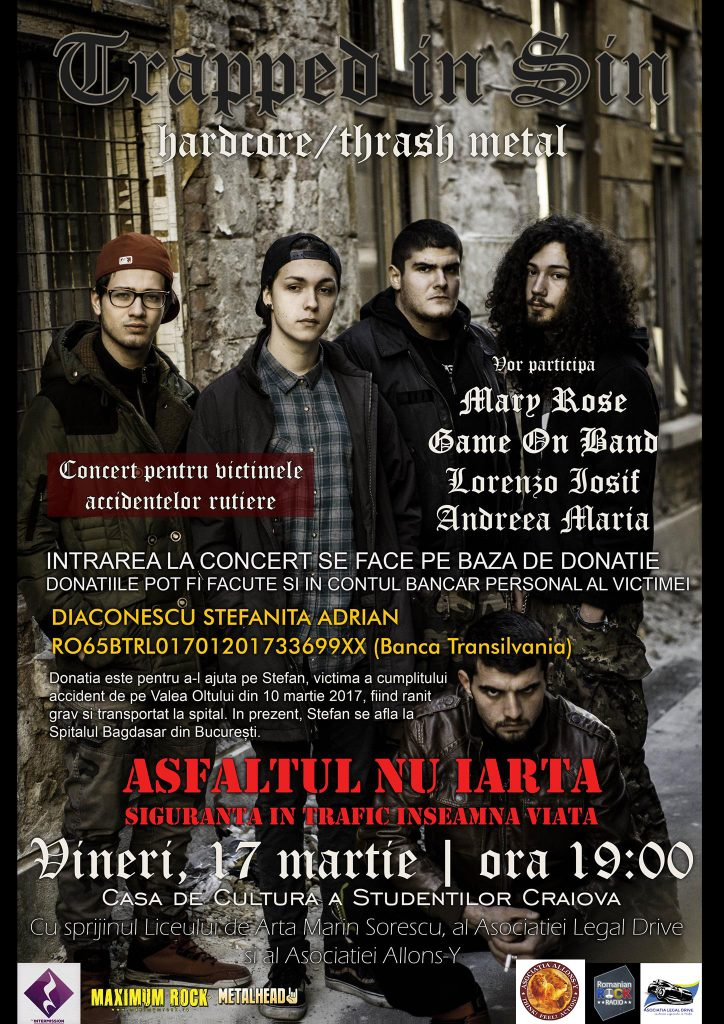 {focus_keyword} Concert caritabil Trapped In Sin și Game On Band în Craiova 17342152 1876291275991946 1301135619 o