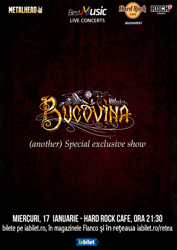 {focus_keyword} Bucovina special exclusive show pe 17 ianuarie la Hard Rock Cafe bb37ee3f 008e 4379 899b 9bb29e935374
