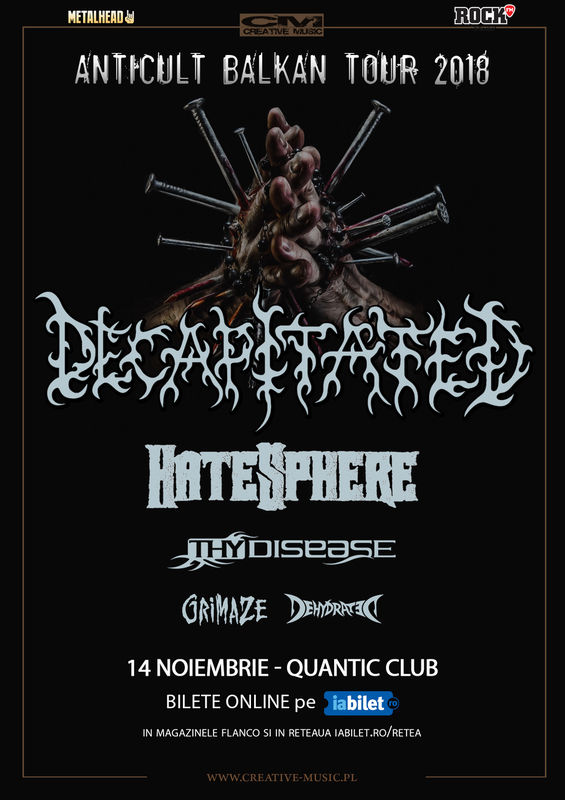 {focus_keyword} Decapitated, Hatesphere si ThyDisease pe 14 Noiembrie in QUANTIC 125a635f f0ea 4ca3 8769 1687bf4f0dd3