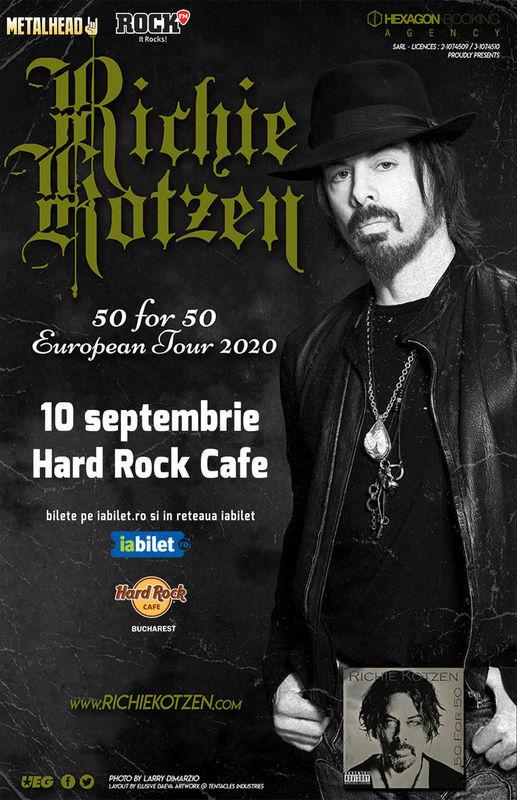 {focus_keyword} Concert Richie Kotzen: 50 for 50 la Hard Rock Cafe pe 10 Septembrie 4dd1f780 2528 49b9 8a68 a4eac232614b