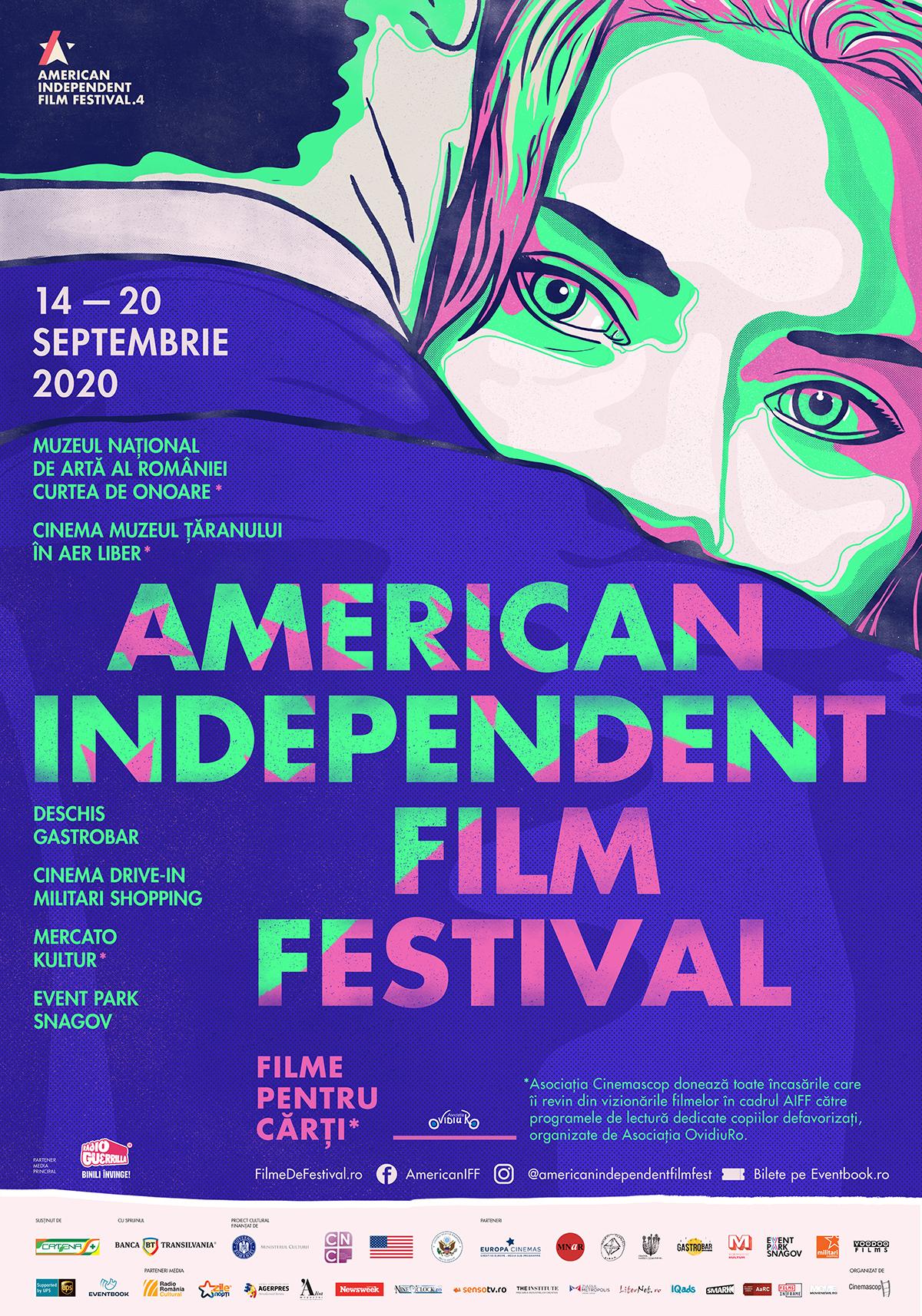 """{focus_keyword} Maya Hawke, interviu în exclusivitate la American Independent Film Festival! În prima zi de școală, Festivalul și Asociația OvidiuRo dau startul campaniei """"Schimbă-le povestea!"""" AIFF20 poster 1"""